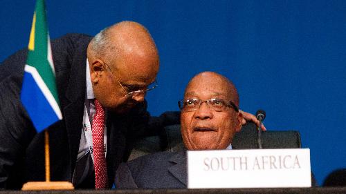 Parvin Gordhan et Jacob Zuma