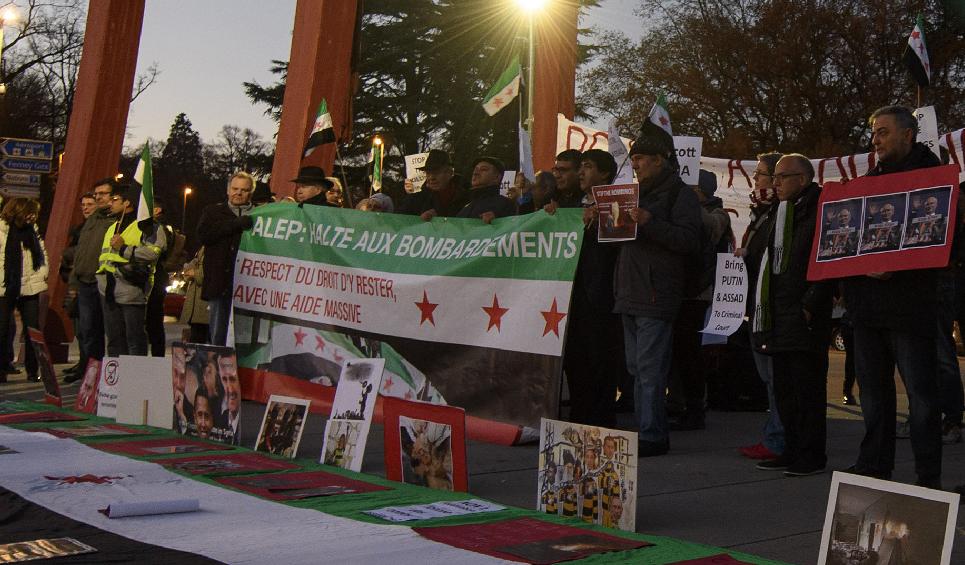 Manifestation à Genève, le 2 décembre 2016