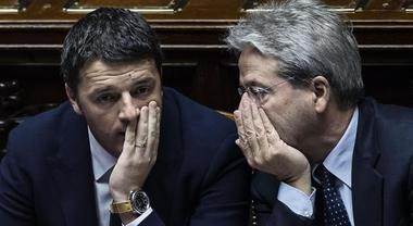 Matteo Renzi et son allié et successeur Paolo Gentiloni