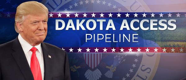 «L'industrie pétrolière presse Trump de donner la priorité à permettre la finalisation du Dakota Access Pipeline» (6 décembre)