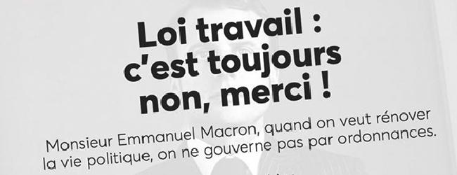 France. «Nous refuserons une loi Travail bis par ordonnance!»
