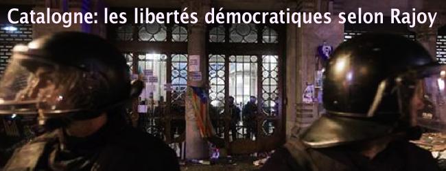 Etat espagnol-Catalogne. L'Etat pénal face au référendum du  1er octobre. Une mobilisation pour les libertés et la démocratie