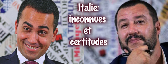 L'Italie après les élections du 4 mars: inconnues et certitudes (I)