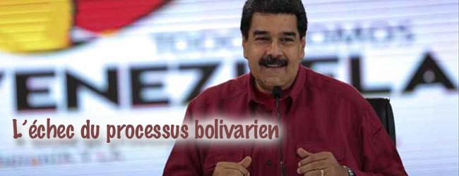 Venezuela. L'échec du processus bolivarien (I)