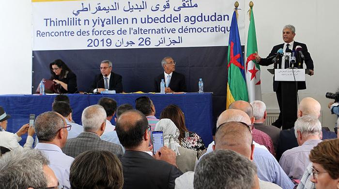 Réunion de l opposition au siège du RCD.Ph :Fateh Guidoum / PPAgency