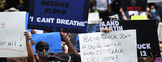Etats-Unis-dossier. L'assassinat de George Floyd. La police tire contre les manifestant·e·s