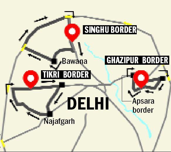SinghuTikriGhazipur