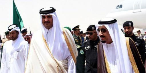 Cheikh-Tamim-al-Thani-mir-Qatar-roi-Salman-d-Arabie-Saoudite