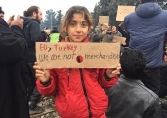 Refugee in Idomeni, Greece