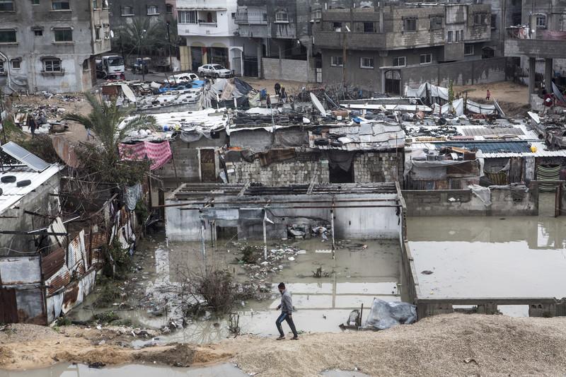 Floods, Jabaliya refugee camp, Gaza Strip, 16.2.2017