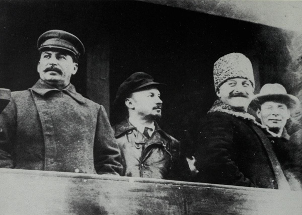 bukharin-between-stalin-and-sergo-ordzhonikidze-atop-the-lenin-mausoleum-october-1929-a-month-before-he-was-expelled-from-the-leadership
